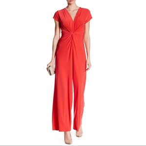 Vince Camuto jumpsuit coral swing top F27